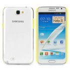Protective Plastic Hard Back Case for Samsung Galaxy Note 2 N7100 - Yellow + Transparent