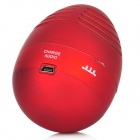 USB Rechargeable Easter Egg Tumbler Speaker (3.5mm Jack Red)
