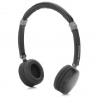 Qiyin BT-988 Stylish Stereo Headphones w/ Microphone for Iphone 5 - Black + Grey