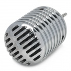 LX053 Universal Stylish Mini Microphone Style 3.5mm Jack Speaker - Silver