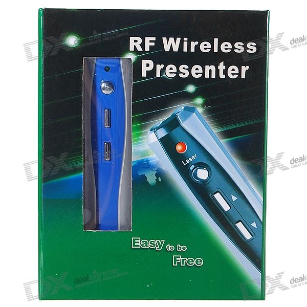 USB RF Wireless Presenter with Laser Pointer - Blue (2*AAA)