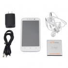 "Utime i15 MTK6572 Dual-Core Android 4.2 WCDMA Bar Puhelin w / 4,5"" FWVGA, 4 GB ROM, GPS, FM - valkoinen"