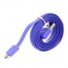 Ebai USB 2.0 Male to Micro USB Male Flat Data Cable - Purple (80cm)