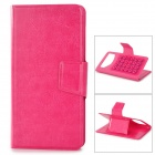 Protective PU Leather Case Cover Stand w/ Suction Cups for Samsung Galaxy S2 i9100 - Deep Pink