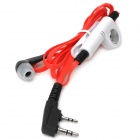 Noodle Style Plastic Handsfree In-ear Earphone - Red + Black + White (Cable - 110cm)