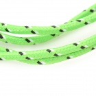 USB to Micro USB Sync Data Woven Cable for Cell Phone - Green + Black (100cm)