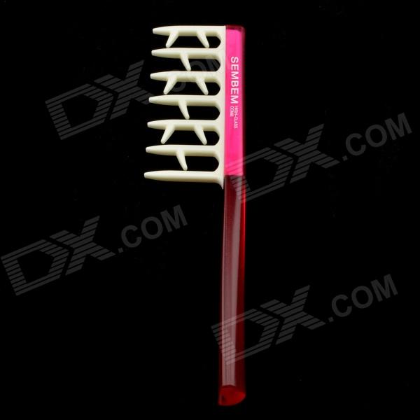 ABS Curly Hair Comb - Deep Pink + Red + White