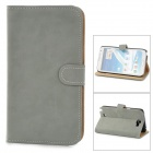 Protective PU Leather Case Cover Stand w/ Card Slots for Samsung Galaxy Note 2 N7100 - Grey