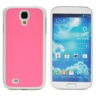 Protective Plastic Back Case for Samsung Galaxy S4 i9500 - Pink + White