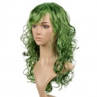 Fashionable Curly Kanekalon Fiber Long Wig for Cosplay / Party - Green