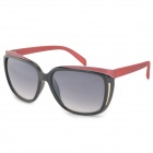 OREKA DY782 Fashion Grey Resin Lens UV400 Protection Sunglasses for Women - Black + Red
