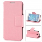 Protective PU Leather Flip Stand Case for Samsung Galaxy S4 / i9500 - Pink