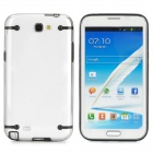Protective Plastic Back Case for Samsung Galaxy Note 2 N7100 - Transparent + Black