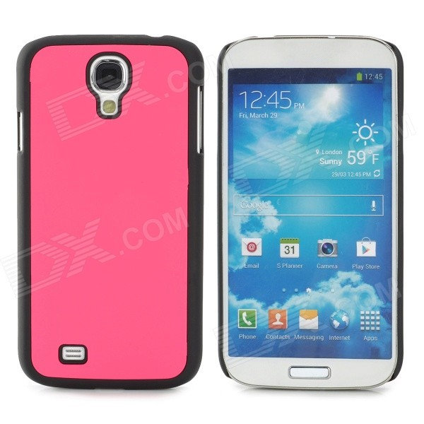 Protective Plastic Back Case for Samsung Galaxy S4 i9500 - Deep Pink + Black protective plastic back case for samsung galaxy s4 i9500 black silver