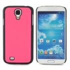 Protective Plastic Back Case for Samsung Galaxy S4 i9500 - Deep Pink + Black