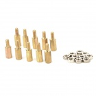 Yaosheng YSD2 10mm M3 Messing Spalten + Nuts - Golden + Silber (10 PCS)