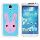 Cute Rabbit Pattern Protective Plastic Back Case for Samsung Galaxy S4 i9500 - Blue + White + Pink