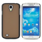 Protective Plastic Back Case for Samsung Galaxy S4 i9500 - Brown + Black