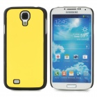 Protective Plastic Back Case for Samsung Galaxy S4 i9500 - Yellow + Black