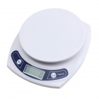 "10050111W 1.2"" LCD Household Kitchen Electronic Scale - White (2 x AAA / 3g~7kg)"