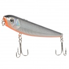 B-2 Double Hook Plastic Lifelike Fish Style Lure Bait for Fishing - Black + Silver + Orange