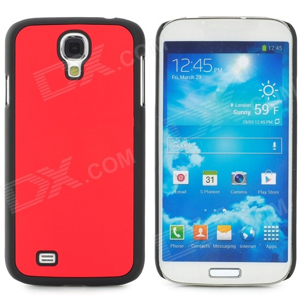Protective Plastic Back Case for Samsung Galaxy S4 i9500 - Red + Black cool basketball skin pattern silicone protective back case for samsung galaxy s4 i9500 black red