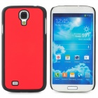 Protective Plastic Back Case for Samsung Galaxy S4 i9500 - Red + Black