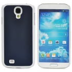 Protective Plastic Back Case for Samsung Galaxy S4 i9500 - White + Deep Blue