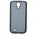 Protective Plastic Back Case for Samsung Galaxy S4 i9500 - Grey + Black
