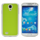 Protective Plastic Back Case for Samsung Galaxy S4 i9500 - Peak Green + White