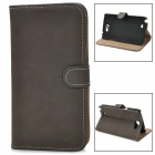 Protective Flip-open PU Leather Case for Samsung N7100 - Deep Brown