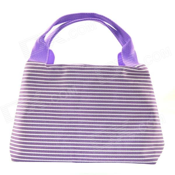 Waterproof Horizontal Stripes / Shopping Admission Package / Trapezoid - Purple