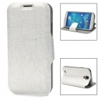 Protective PU Leather Case for Samsung Galaxy S4 - White