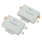 LRS-Y04 Aluminum Alloy UTP Twisted Pair Video Transceiver - Grey + Silver + White (2 PCS)