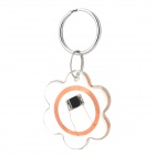 Flower Pattern Rewritable Waterproof 13.56MHz NFC Smart Tag - Transparent + Copper + Silver