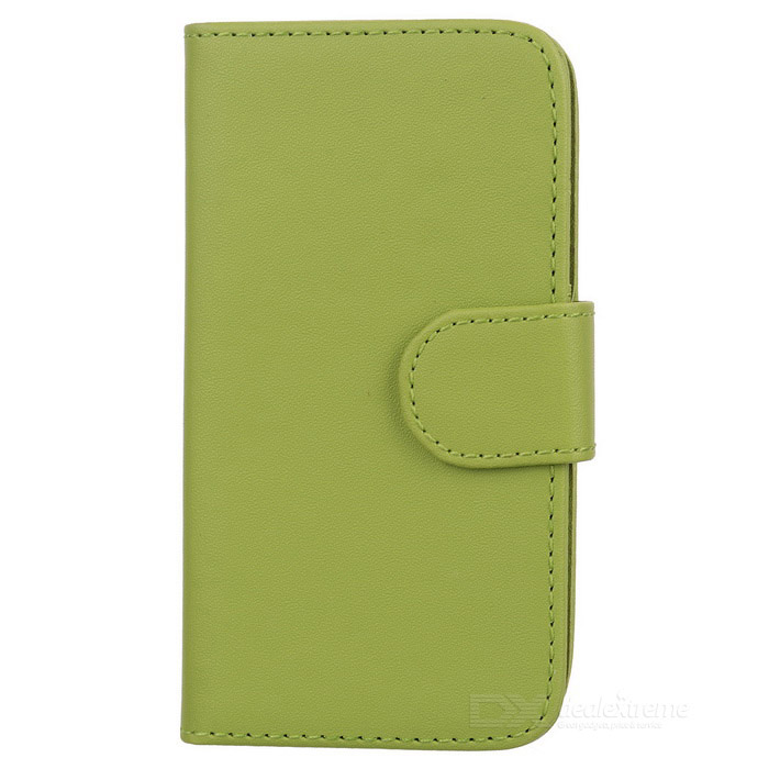 Suojaava PU Leather Case for Samsung Galaxy S4 Mini i9190 - Vihreä