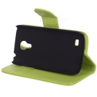 Protective PU Leather Case for Samsung Galaxy S4 Mini i9190 - Green