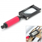 ZW TH-8008 Handheld 5X Magnifier - Black + Red