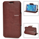 Protective PU Leather Case for Samsung Galaxy S4 i9500 - Brown