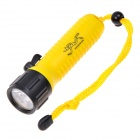 POP lite F6 160lm 2-Mode White Diving Flashlight w/ Cree XR-E Q5 - Black + Yellow (1 x 18650)
