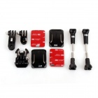 ESER GPA Accessories Set for GOPRO 3+ Camera - Black + Silver + Red