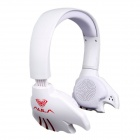 AULA Electronic Music Ghost USB Wearing Desktop Computer Games Headphones - White (180cm-Cable)