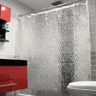 Stylish EVA Shower / Bath Curtain - Translucent