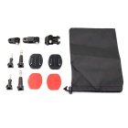 Multifunctional Accessories Set for GoPro 3+ - Black + Silver + Red