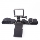 ESER TDT Three-Glue Head Strap + Side Frame Set Accessories for Gopro 3 - Black + Silver