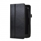 Crazy Horse Pattern 2-Folding Protective PU Leather Case Cover Stand for HP SLATE 7 - Black
