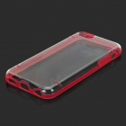 Stylish Glow-in-the-dark Protective PC + PU Bumper Frame Case for Iphone 5C - Red