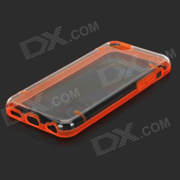Stylish Glow-in-the-dark Protective PC + PU Bumper Frame Case for Iphone 5C - Orange stylish glow in the dark protective pc pu bumper frame case for iphone 5c orange