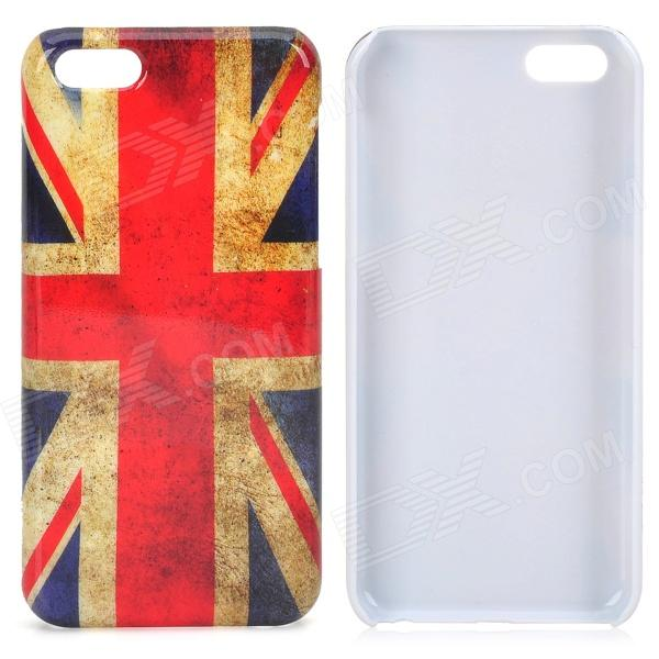 Retro UK National Flag Pattern Protective Plastic Back Case for Iphone 5C - Multicolored цена и фото