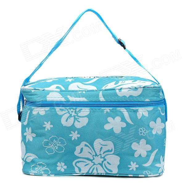 Outdoor Picnic Thicken Knitted Fabric + Cotton Insulated Food / Drink Bag - Blue denim lunch bag kid bento box insulated pack picnic drink food thermal ice cooler leisure accessories supplies product